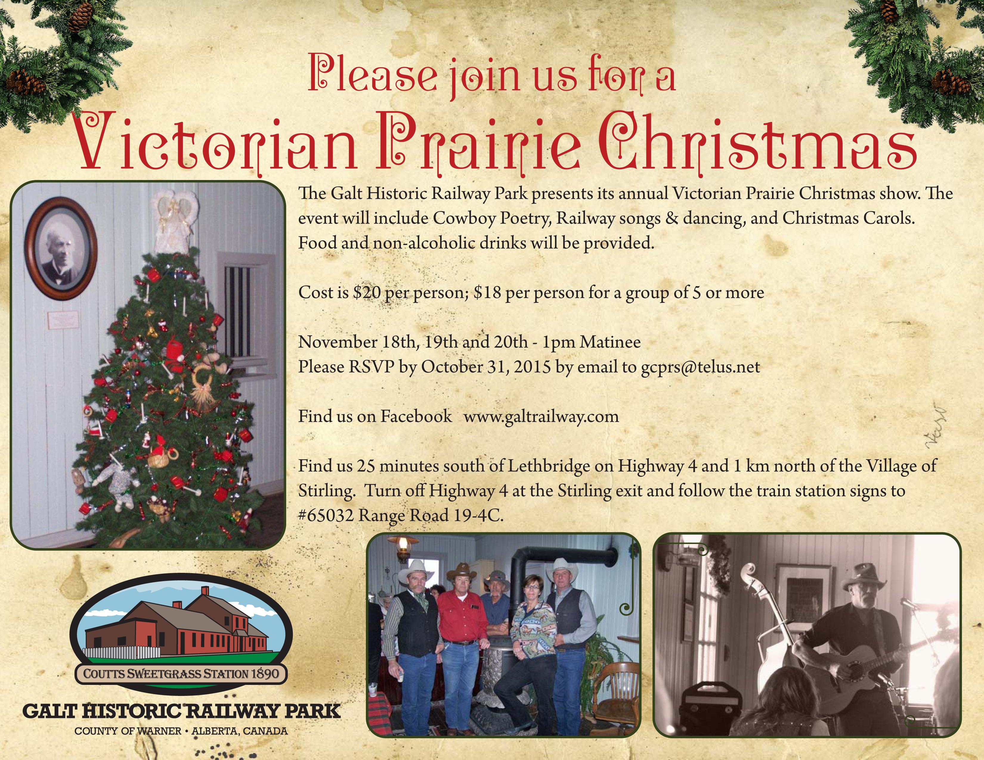 Upcoming Victorian Prairie Christmas Event! – Galt Historic