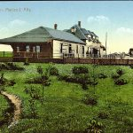 View of the relocated former Haneyville train station in Fort Macleod in 1908.  Courtesy of Peel's Prairie Provinces Digital Collection at the University of Alberta Libraries #PC003608